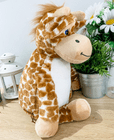 Personalised new baby giraffe teddy bear